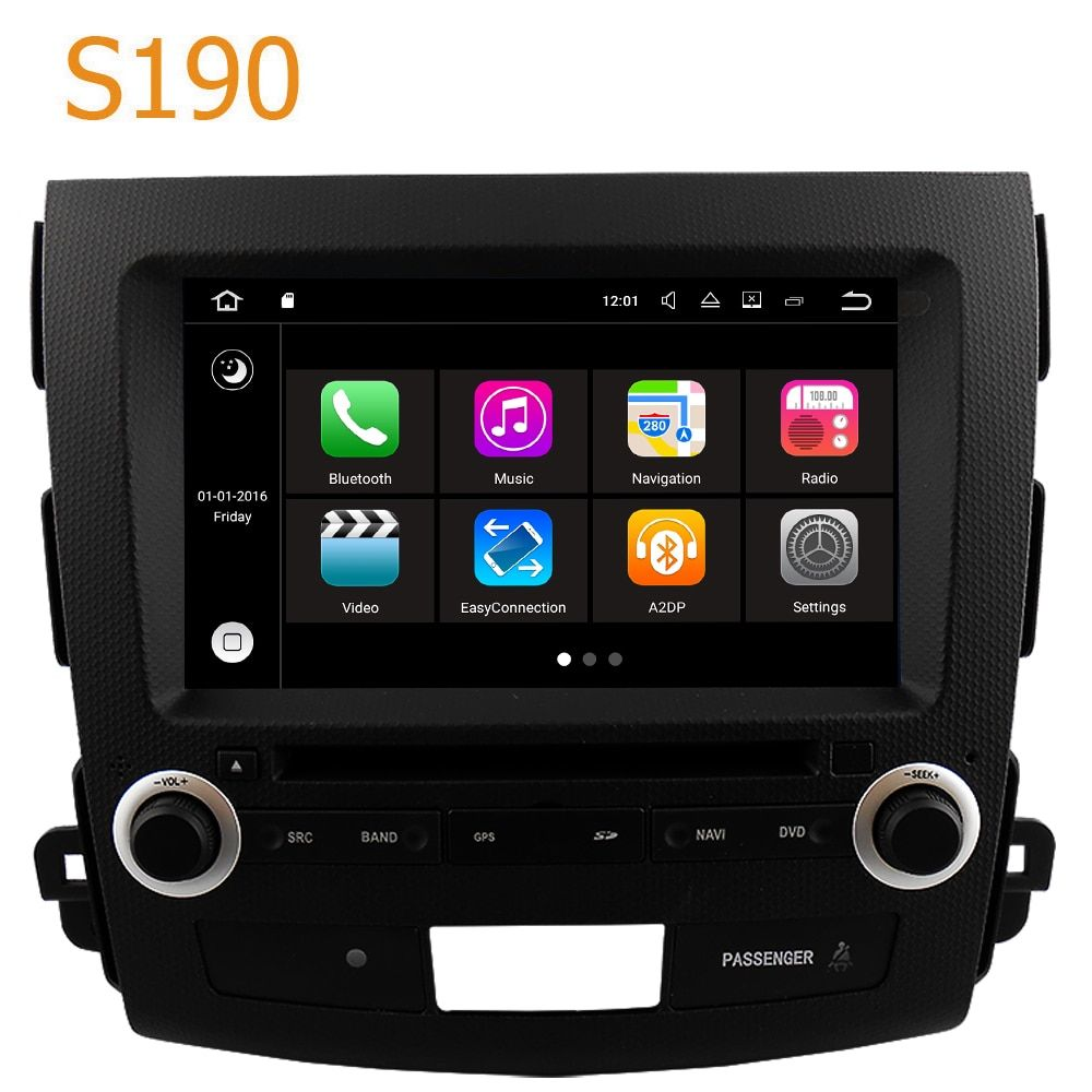 Road Top Winca S190 Android 7.1 System Car GPS DVD Player Head Unit for Citroen C Crosser 2007 - 2012 with Radio Navigation