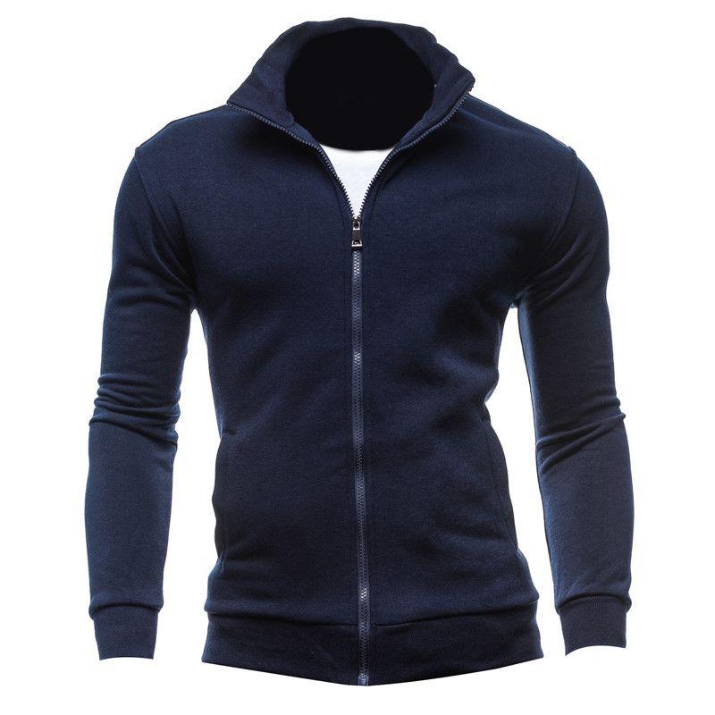 Männer Herbst Winter Hoodies Mode Sweatshirt Casual Reißverschluss Lange Ärmel Hoody Fitness Hip Pop Outwear Strickjacke Hoodie Tops 3XL