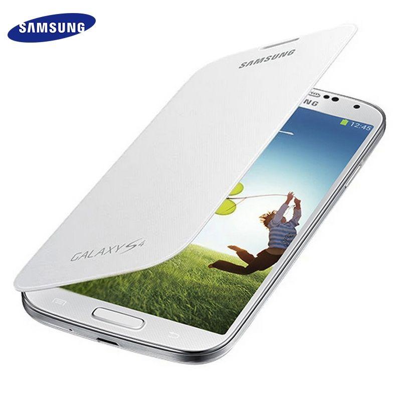 100% D'origine Samsung S4 Flip Cas Mince En Cuir Batterie Maison Étui Couverture pour Samsung Galaxy s4 I9500 Cas Coque De Protection