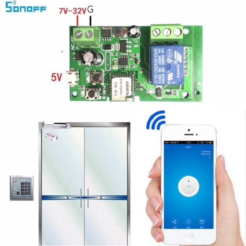Sonoff Smart Télécommande BRICOLAGE À Distance Sans Fil Commutateur Universel Module DC 5 V 12 V 32 V Wifi Interrupteur Minuterie pour La Maison Intelligente