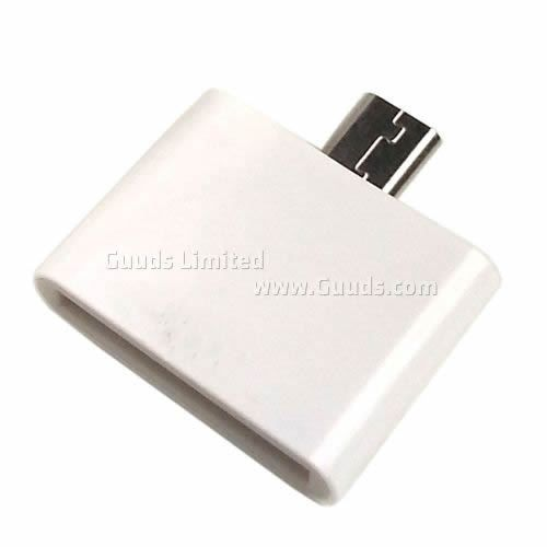 Docking 30 Pin Female to Micro USB Male Adapter for Samsung Galaxy S4 i9500 / S3 i9300 / for Note 2 N7100