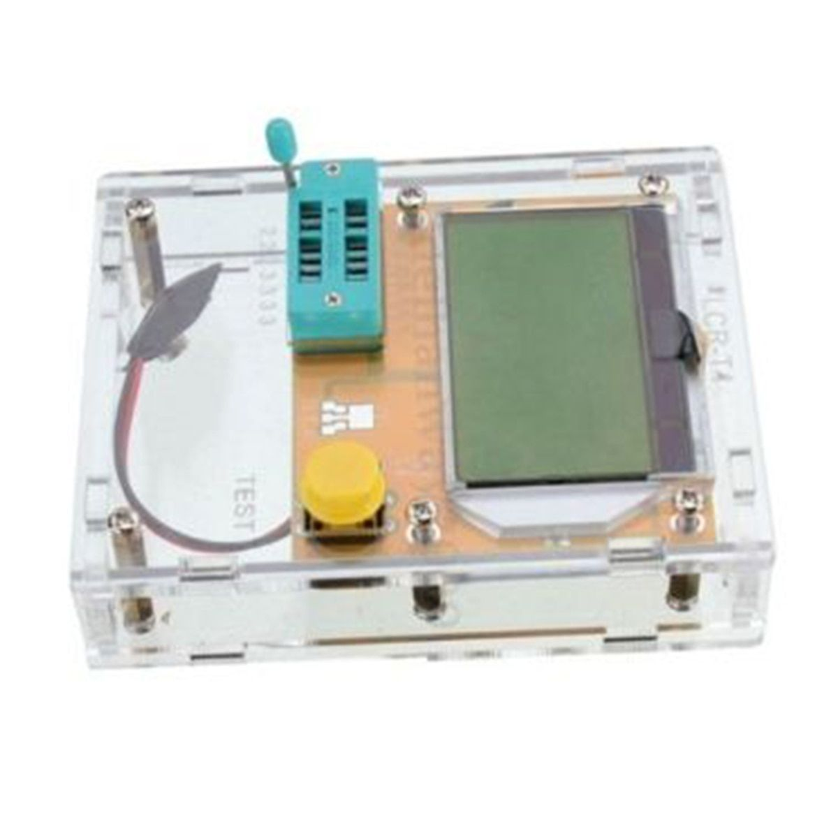 LCR-T4 ESR Meter LED Transistor Tester Diode Triode Capacitance M328 Multifunction Tester Multimeter with Acrylic Case