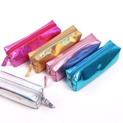 Irisé Laser Crayon Cas Qualité PU Fournitures Scolaires Bts Papeterie Cadeau Pencilcase Scolaire Mignon Crayon Boîte Bts Outils De L'école