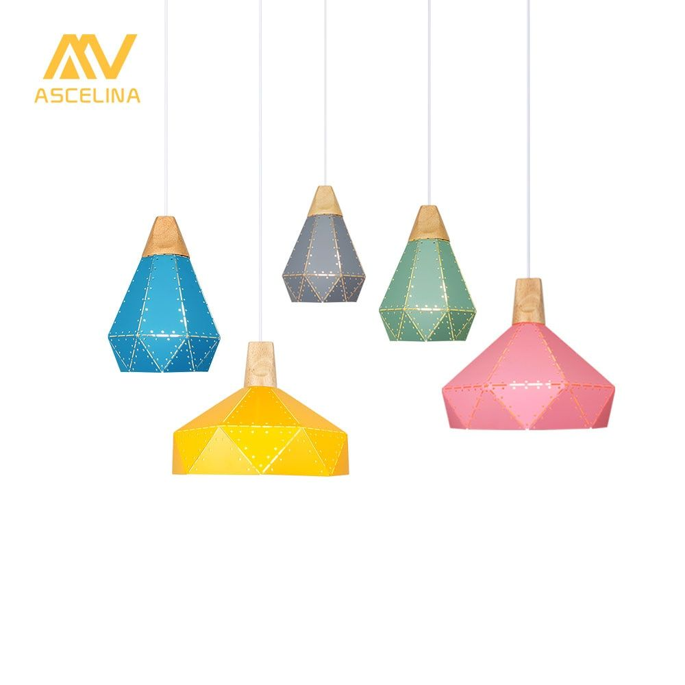 Modern Pendant Ceiling Lamps LED pendant Light Nordic hanging lamp Christmas decorations home lighting wood lamp for living room