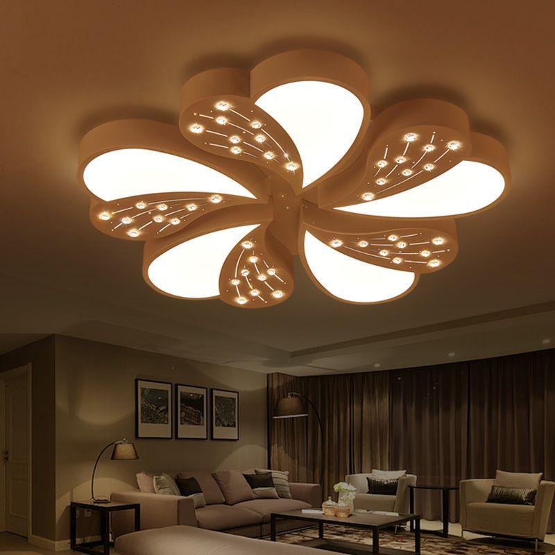 2017 nouveau Design lustre en cristal luminaire en cristal lumière Lustres de cristal pour salon salle à manger plafonnier