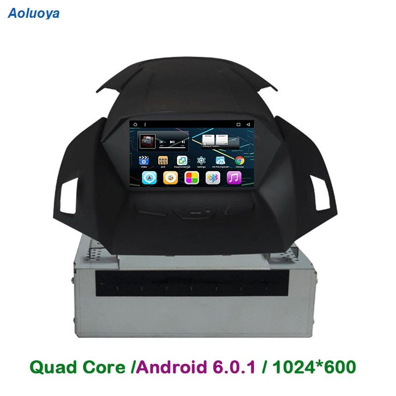 Aoluoya 8 inch 1024*600 RAM 2GB Android 6.0 2 Din CAR Radio DVD GPS Player For Ford Kuga 2013-2016 Audio video multimedia WIFI