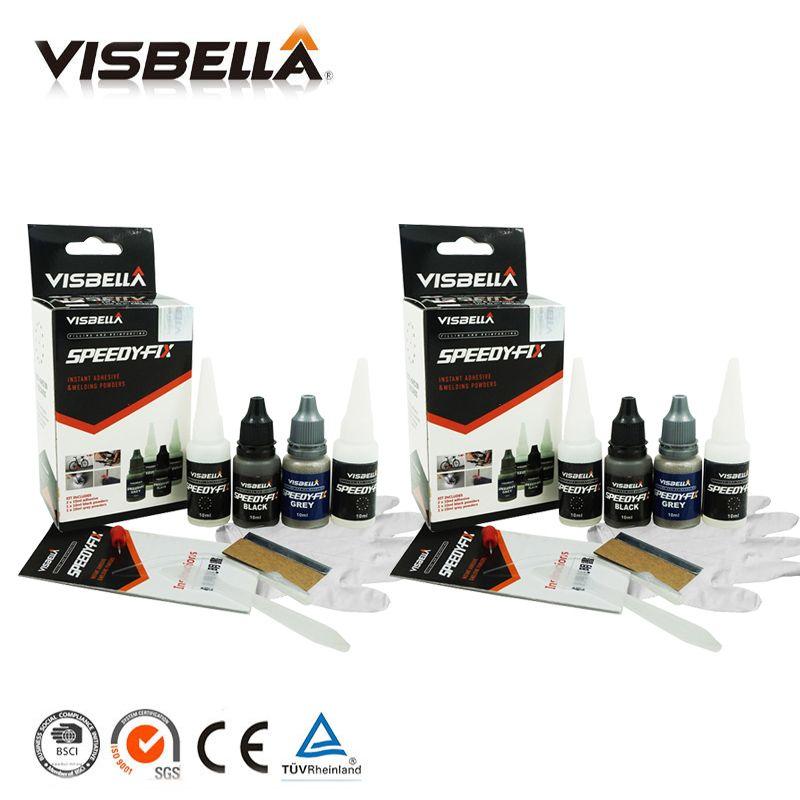 Visbella 2pcs 7 Second Speedy Fix Quick Bonding Adhesive Powders for Metal Steel Plastic Wood Ceramic Repair Glue Reinforcing
