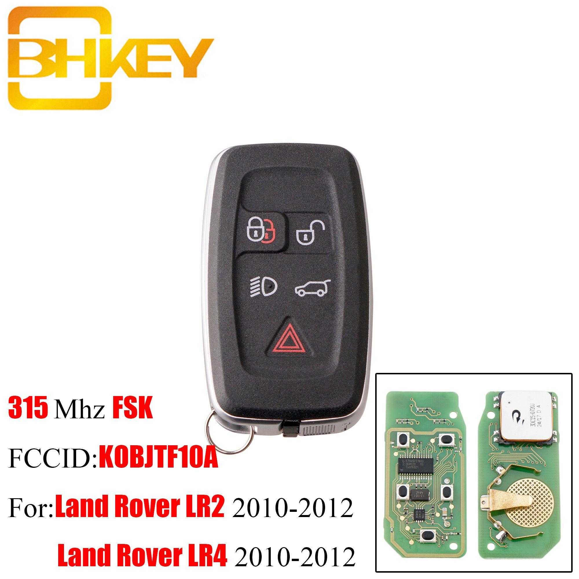 BHKEY 315 Mhz 433 Mhz 5 Tasten Remote key Fob Für Land Rover LR4 Range Rover Evoque Sport KOBJTF10A Original fernbedienung schlüssel