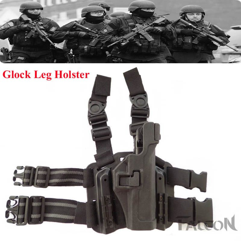 Tactical Military Puttee Glock Pistol Leg Holster With Magazine Pouch Shooting Hunting Thigh Holster Glock 17 18 19 22 23 31 32