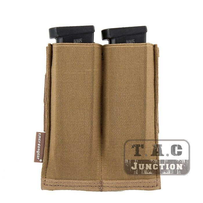 Emerson Tactical Fast Draw MOLLE / PALS EmersonGear High Speed Double Open Top 9mm .45 Pistol Magazine Mag Pouch Holster