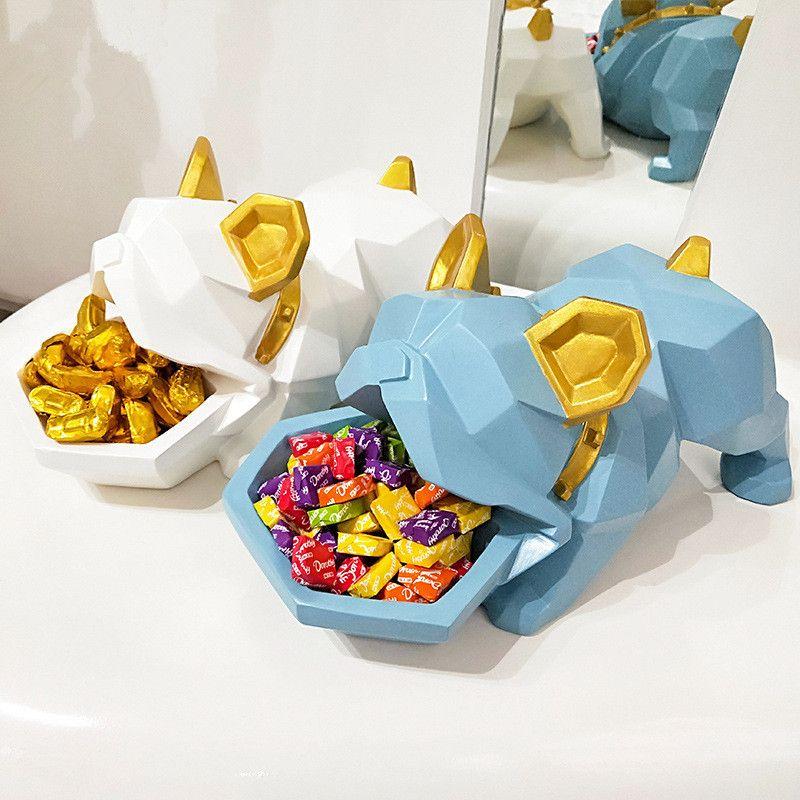 Kreative Bulldog Candy Box Dekoration Glück Hund Kreative Eingang Concealer Disk Tür Schuh Schrank Schlüssel Lagerung Box Beste Geschenk