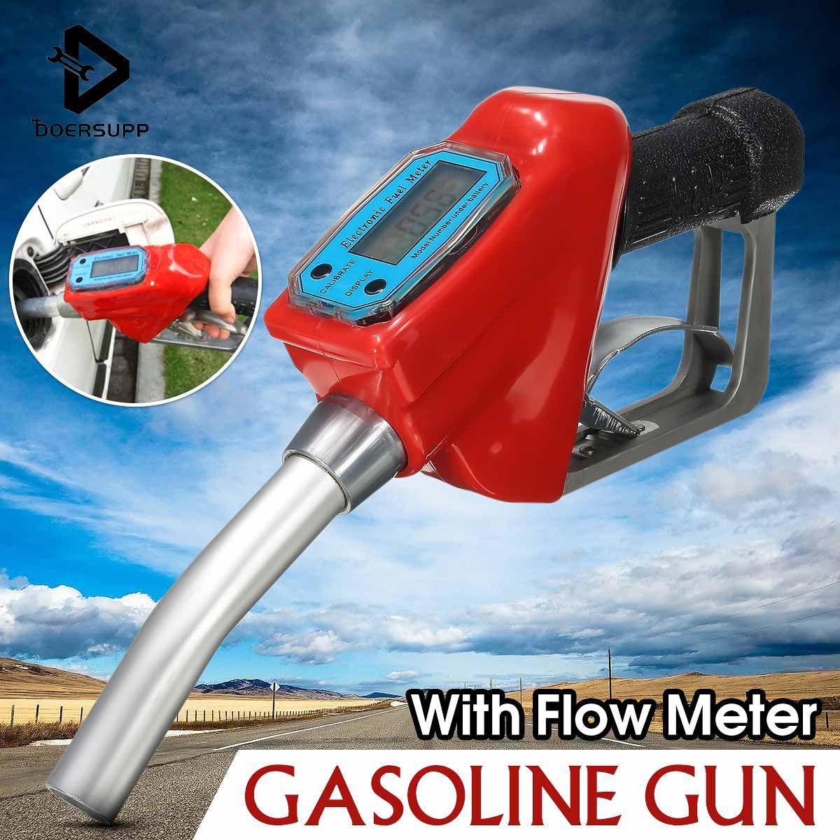 Doersupp Gas Flow Meter Sensor Flowmeter Indicator Counter Fuel Gauge Oil Delivery Gun Nozzle Gasoline Station Oil Refueling Gun