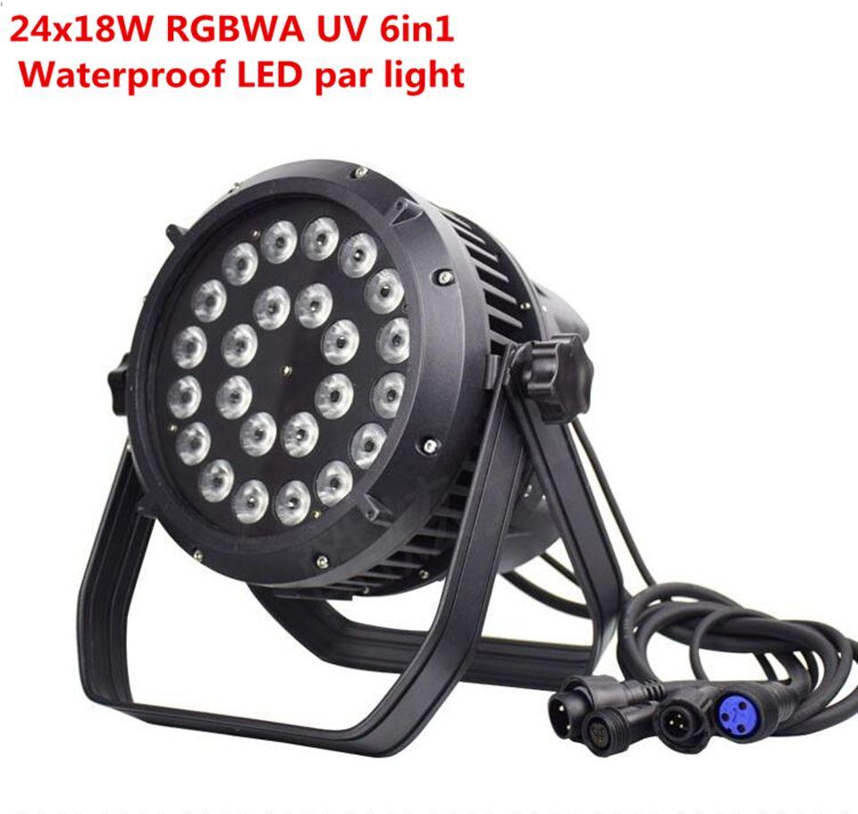 24x18w IP65 waterproof led Par Lights RGBWA UV 6in1 LED PAR DMX512 control professional stage DJ equipment disco lights