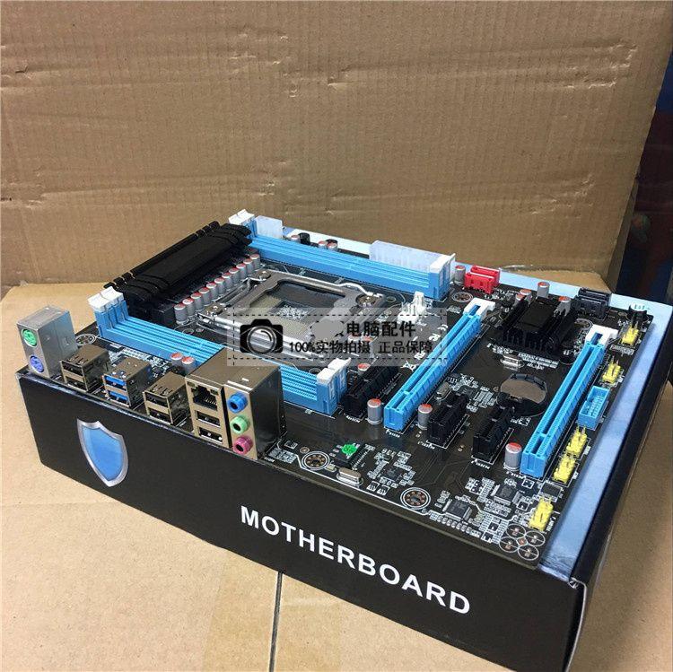 X79 motherboard LGA2011 DDR3 64G ATX USB3.0 SATA3 PCI-E SSD support REG ECC memory and Xeon E5 processor