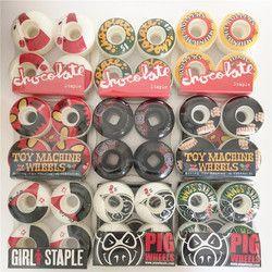 Amerika Serikat 4 Pcs Roda Skateboard 52/53/54/56 Mm Multi Grafis Skateboard Roda untuk Rocker Ganda truk Kecepatan Cuirser Rodas Skate