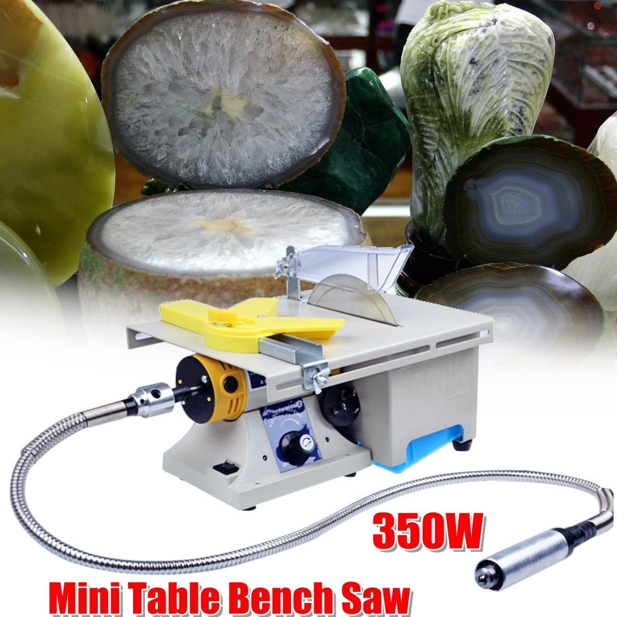 350W Mini Table Bench Saw Electric Grinding Engraving Machine Jade Wood Stone Polishing For Bodhi Ivory Carving Polisher