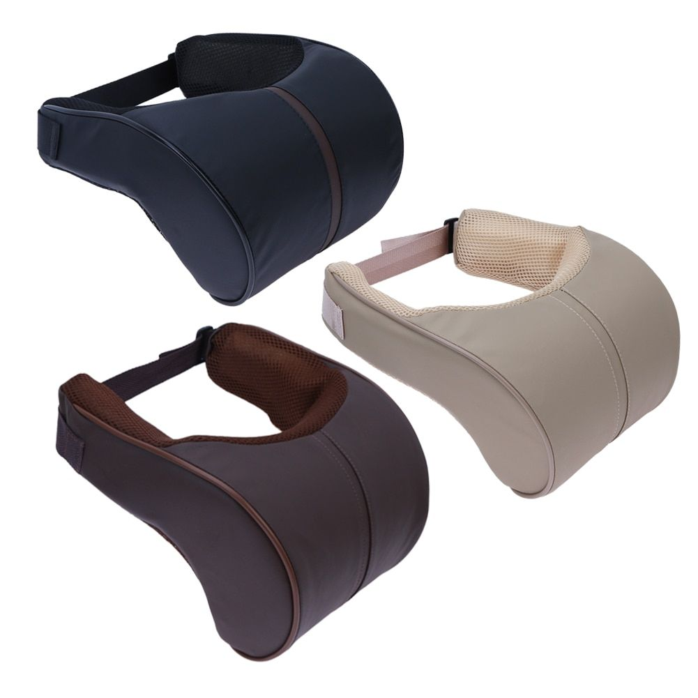 1Pcs Car Pillow Head Neck Rest Seat Head Safety Cushion Support Pad Memory Cotton Travelling Head Rest Car Styling Accessory New
