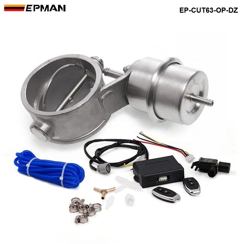 2.5'' 63mm Open style Vacuum Exhaust Cutout Valve with Wireless Remote Controller Set EP-CUT63-OP-DZ