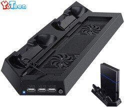 Charger for Sony Playstation 4 PS4 Controller Charging Stand Docking Station Stand With Cooling Fan Heatsink Vertical Stand Dock