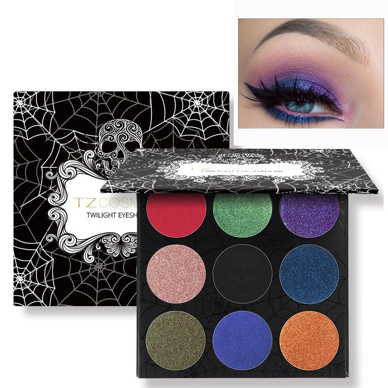 New 2017 Make Up Brand Eyeshadow Cosmetic Glitter Makeup Pigment 9 Color Shimmer Powder Smoky Glitter Eye Shadow Palette