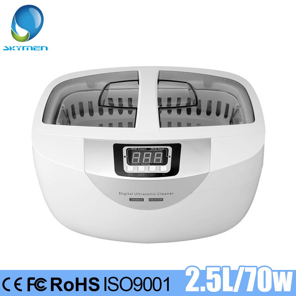 SKYMEN 2500ml 70W Ultrasonic Cleaner Heating Jewelry Stones Cutters Manicure Tools Toothbrush Watches Eyeglasses Shaver Parts