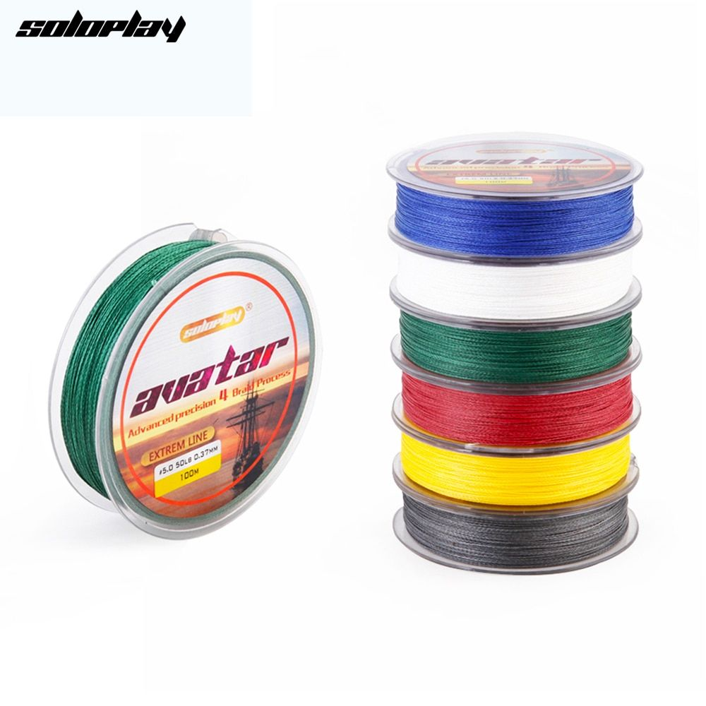SoloPlay100m Super Strong Japanese Multifilament PE Braided Fishing Line 12 20 30 40 50 60 80 BL