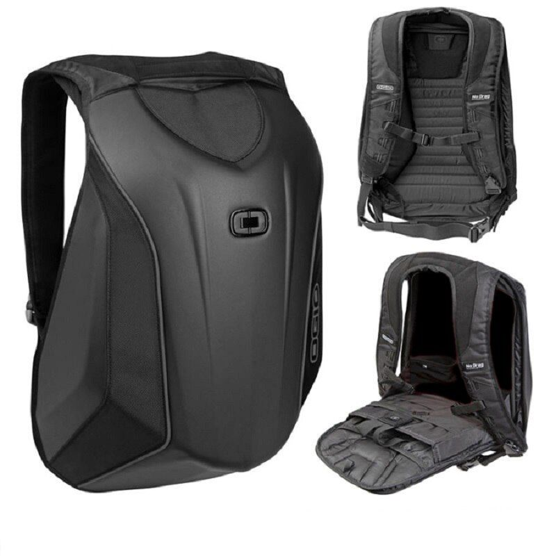Motorcycle Knight Bag <font><b>Motocross</b></font> Riding Racing Storage Bag Carbon Fiber Motorbike Helmet Backpack