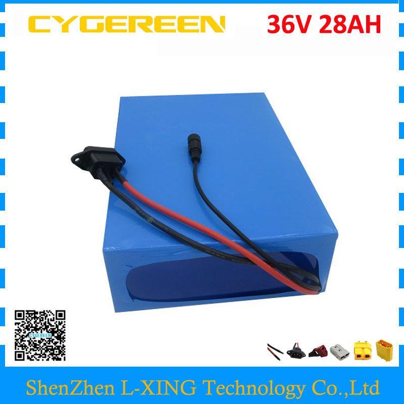 Freies gewohnheiten duty 1500 W 36 V 28AH batterie pack 1500 W 36 V lithium-batterie 28AH verwenden 3500 mah 35E zelle 50A BMS mit 5A Ladegerät