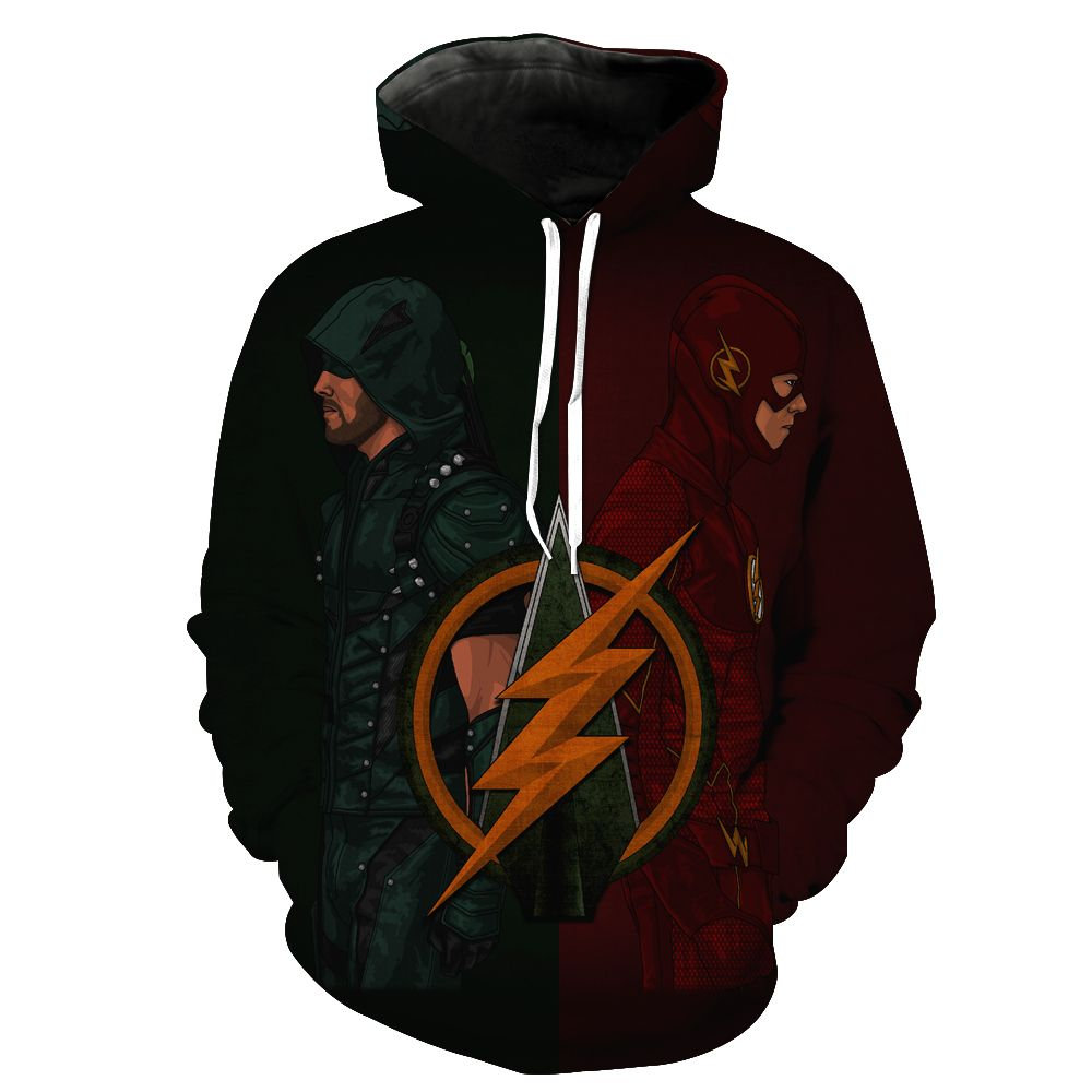 2018 New Fashion Sweatshirt Men / Women 3d Hoodies Print The Flash hero anime pattern Slim Unisex Slim Stylish Hooded Hoodies