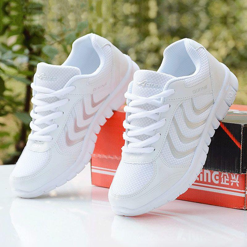 Women <font><b>sneakers</b></font> 2018 new arrivals fashion women shoes white breathable mesh casual shoes woman tenis feminino wedge <font><b>sneakers</b></font>