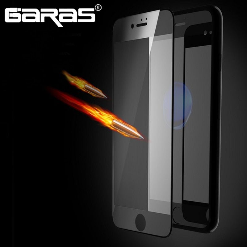 GARAS Screen Protector Tempered Glass For Iphone 7 7Plus 4D Screen Protector Stickers Flim For Iphone 6 6s 6plus 6s plus