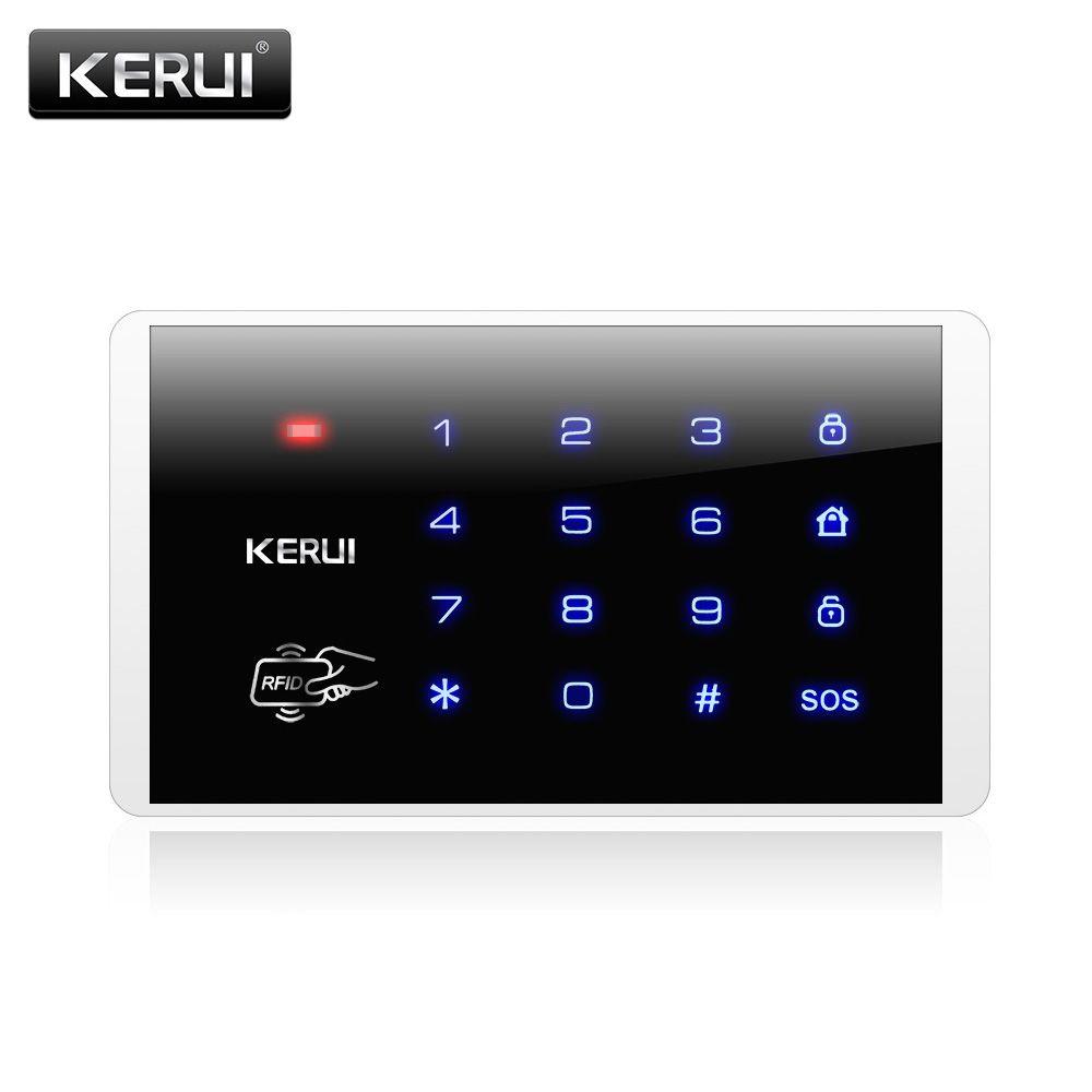 K16 Teclado Táctil Inalámbrica RFID Para PSTN GSM Hogar Sistema de Alarma Personal 433 MHz sistema de Contraseña Del Teclado Inalámbrico