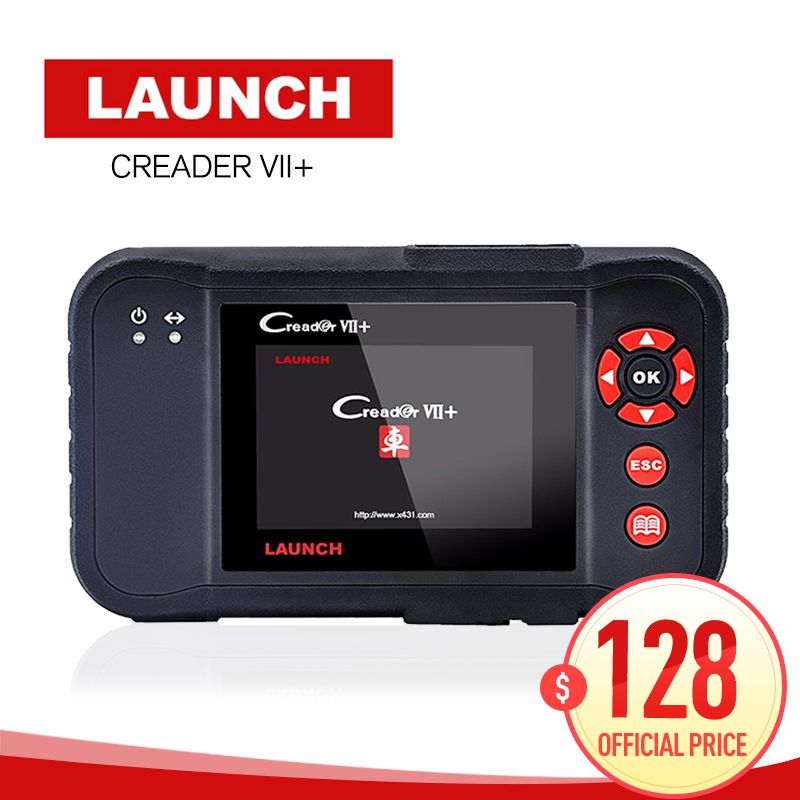 Original Auto Code Reader Launch X431 Creader VII Plus Update Via Offical Website OBDII Scanner Same as CRP123 code scanner obd2