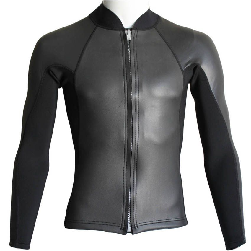 2mm Neoprene Wetsuit Jacket for Men Diving Snorkeling Dragon Swimming High Elastic Spearfishing Kite Surf Windsurf Surfing Scuba