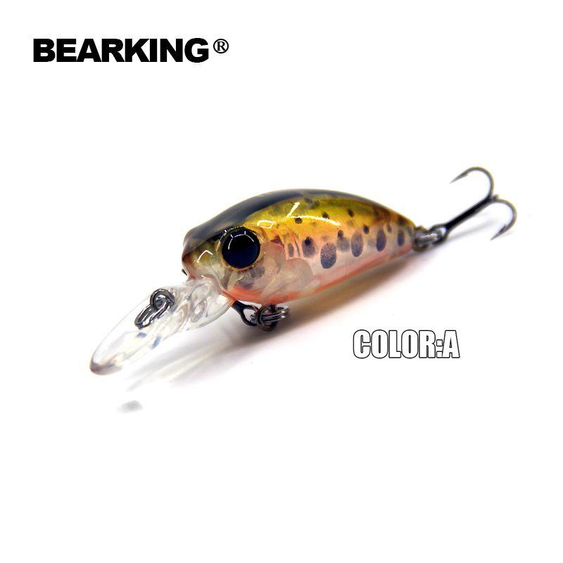 Bearking professionelle heißer modell A + angeln lockt, 12 farben für wählen, minnow crank 32mm 2,7g, angeln bewältigen harten köder