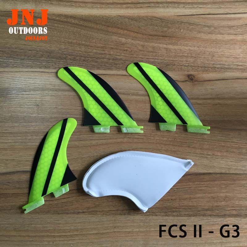 Strongest fiberglass honeycomb standard surfboard fins FCS II G3 S fins 3pcs a set