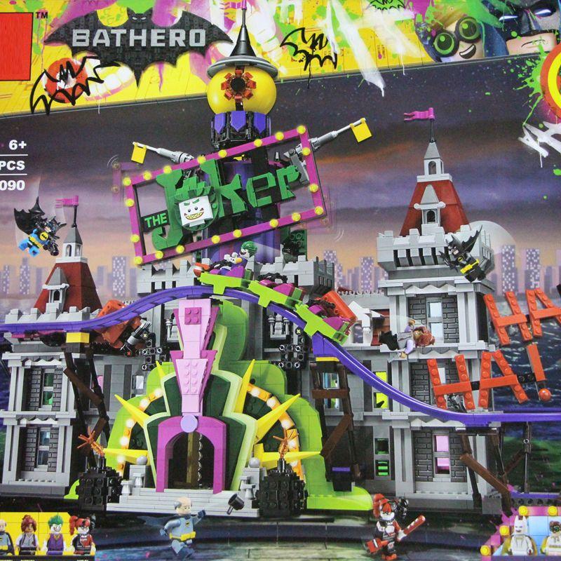 Batman The Joker`s Manor Set 07090 Hot-sale 3857Pcs Super Hero Series Movie 70922 Building Blocks Bricks Christmas Kids Gifts