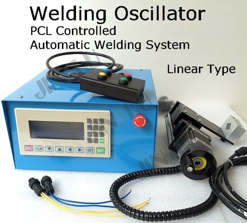 Video inside Automatic Welding Oscillator Weaver PLC Controlled Motorized Mechanism Linear Type Welding Positioner Turntable