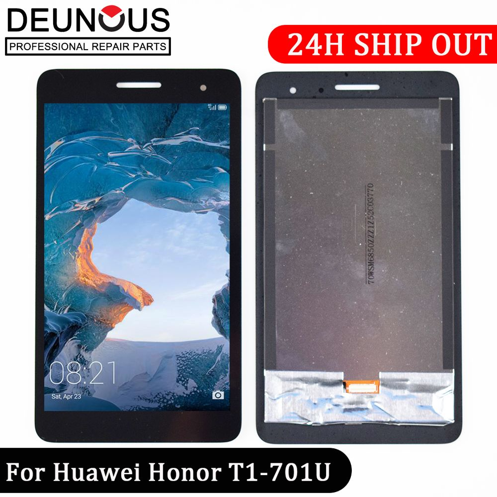 New 7'' inch For Huawei Honor Play Mediapad T1-701 T1 701U T1-701U LCD Display With Touch Screen Panel Digitizer free shipping