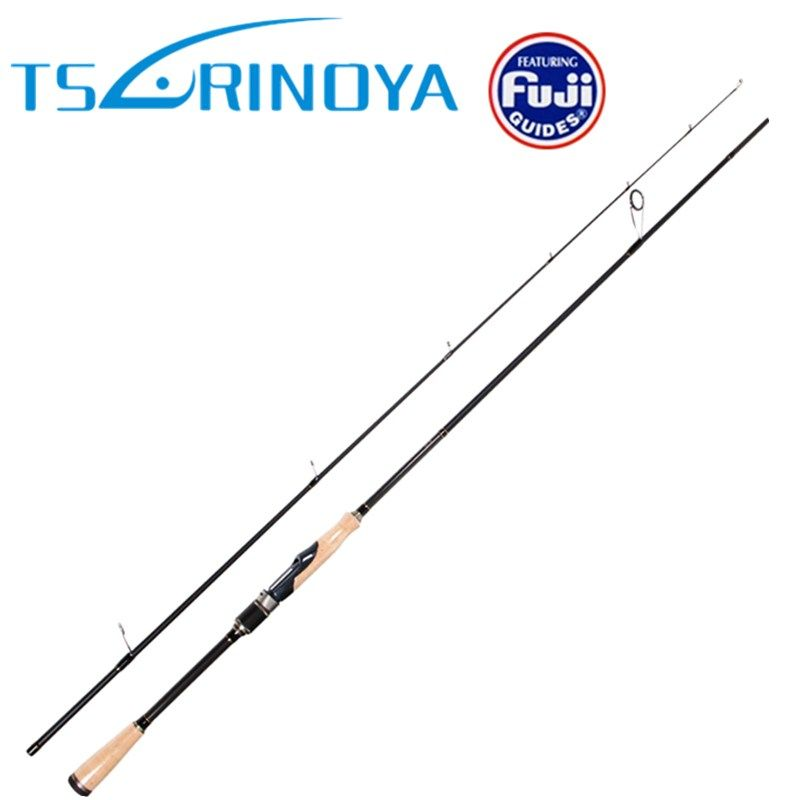 Tsurinoya 2 Secs Spinning Fishing Rod 2.01m/ML 2.13m/M Fast Action Carbon Lure Rods FUJI Accessories Pesca Tackle Stick