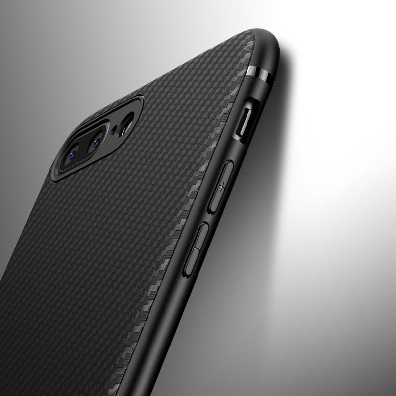 Carbon Fiber Case for iphone X iphone 7 8 plus thin Slim Back Luxury Case for iphone 6S 6 plus iphone 8 XS Max XR Cover Silicone