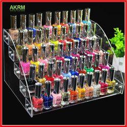 Moda claro 5 capas uñas estante polaco barniz maquillaje almacenamiento organizador cosmético organizador hogar de almacenamiento