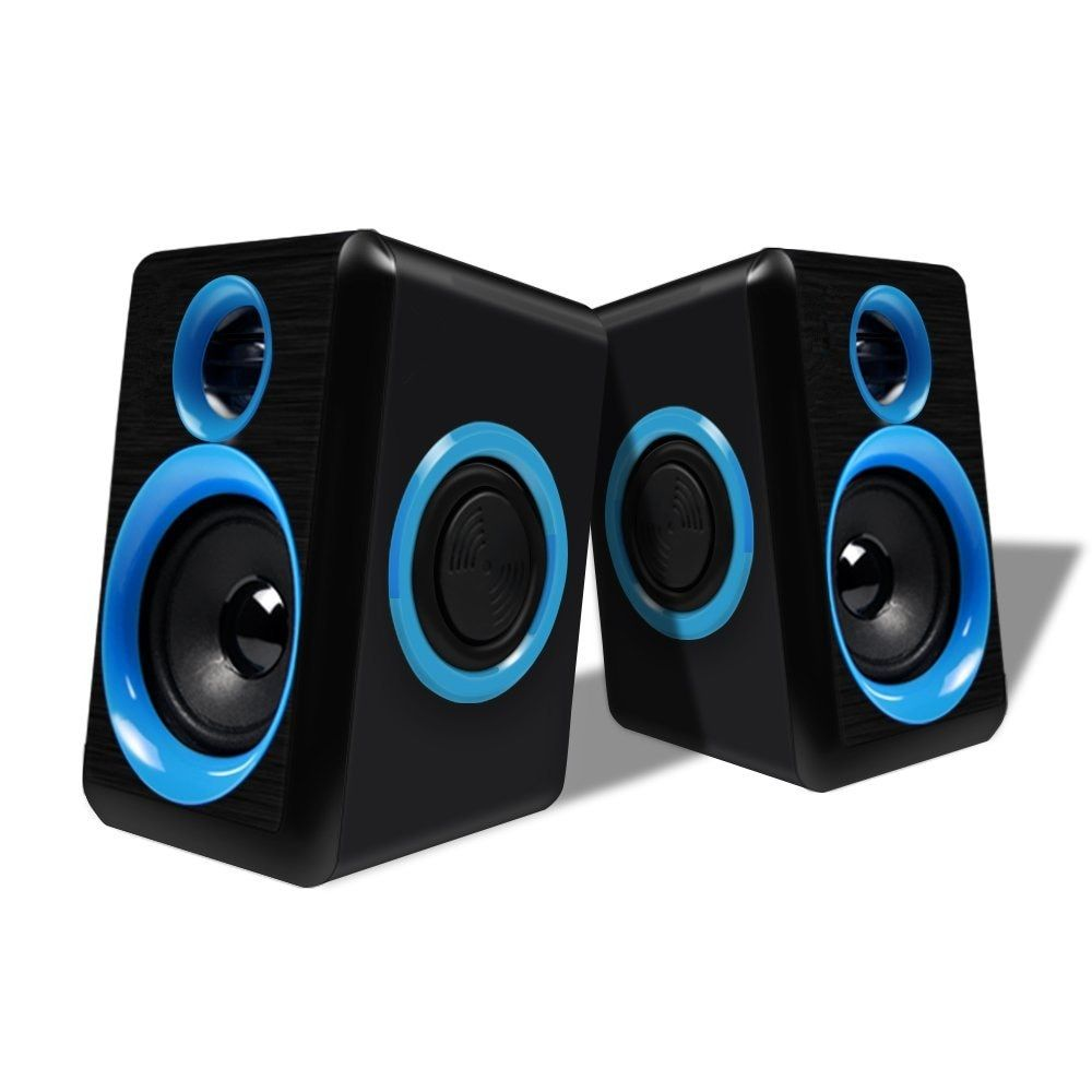Surround Computer Speakers with Deep Bass USB Wired Powered Multimedia Speaker for PC Laptops Builtin Four Loudspeaker Diaphragm