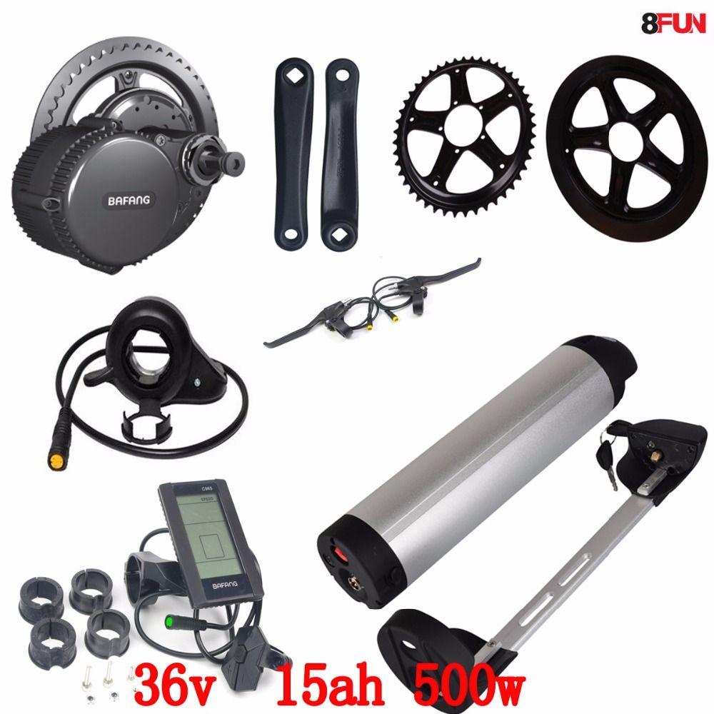 Bafang BBS02 36V 500W Ebike Motor with C965 LCD 8fun/bafang Electric Bike conversion kits + 36V 15Ah Li-ion ebike battery