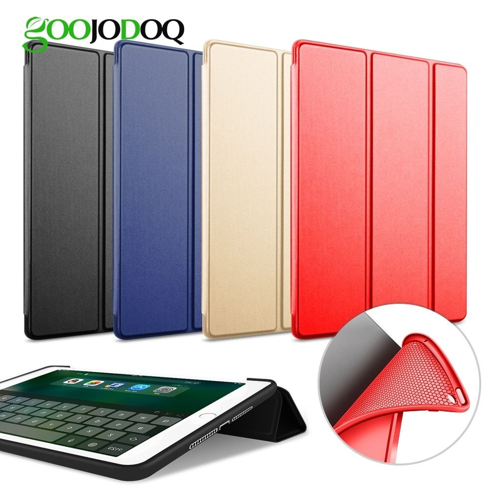 Case For iPad Air 2 / Air 1 Silicone Magnetic Case for iPad Air Smart Cover Soft TPU Case PU Leather Flip Stand Auto Sleep/Wake