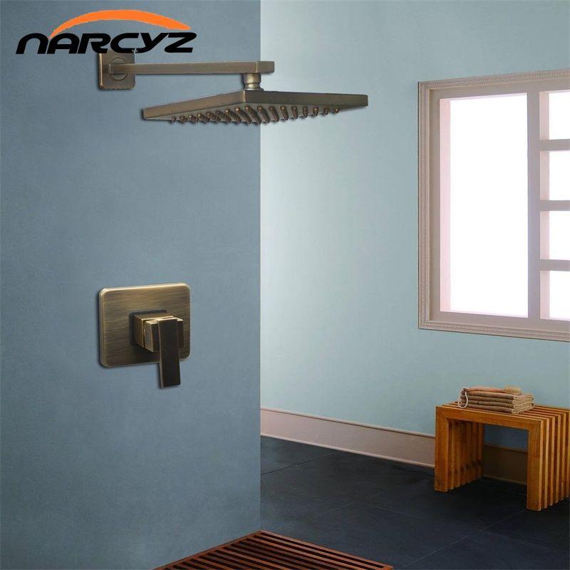 Antike Wand Montiert Dusche Wasserhahn Sets 8