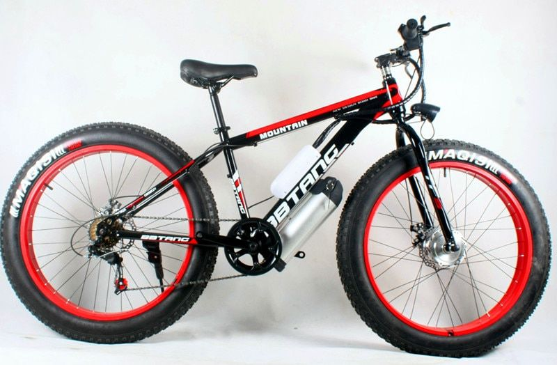 Special price 26 inch lithium battery, electric bicycle, beach bike, snow motorcycle 350W/500W mountain bike battery, wholesale.