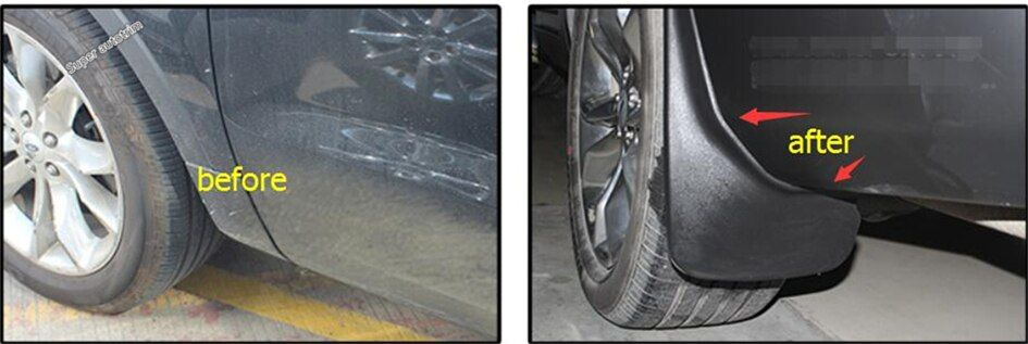 Für Ford Explorer 2013-2018 Kunststoff Mehr Mode Front + hinten Spritzschutz Kotflügel Splash Flaps Abdeckung Schutz Trim 4 Stück