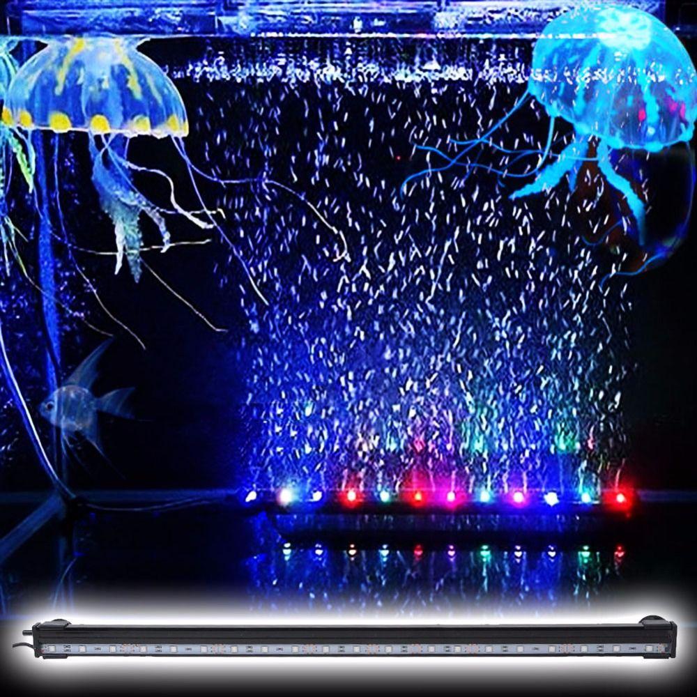 Aquarium 55CM Waterproof Light Bar + 24 Keys RC Remote For Fish Tank (EU Plug)