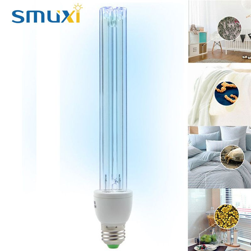 20 W E27 Lumière UV Tube Ampoule Ultraviolet Lampe De Désinfection UVC Stérilisation à L'ozone Acariens Lumières Germicide Lampe AC220V